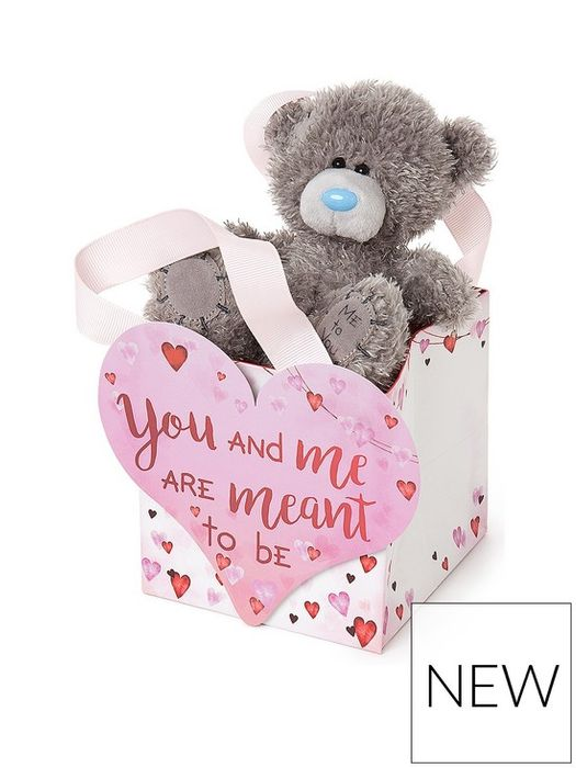 Me to You Valentines Bear in a Bag with Card