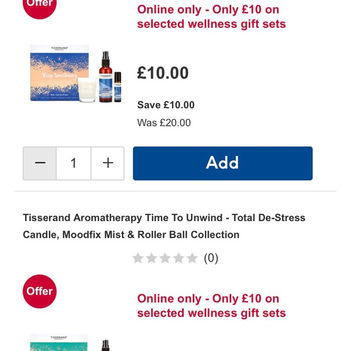 GLITCH Tisserand Aromatherapy Gifts 3 for £15!