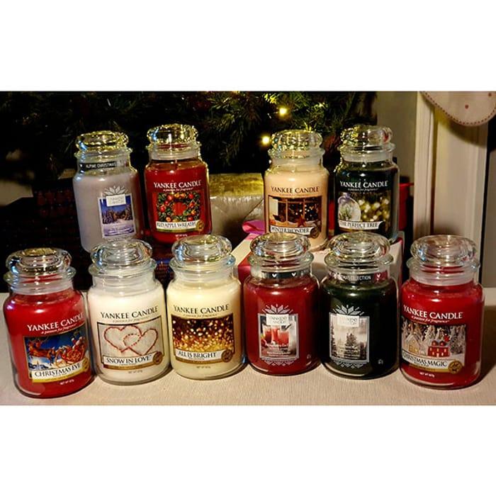 6 Randomly Assorted Festive Classic Signature Xmas Large Jars
