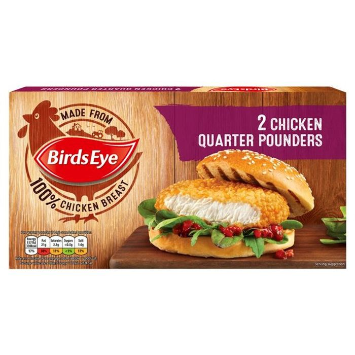 Birds Eye 2 Chicken Quarter Pounder