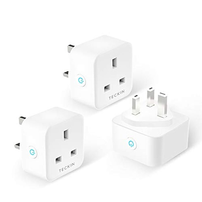 3 Pack Smart Plug 13A WiFi Socket Compatible with Alexa