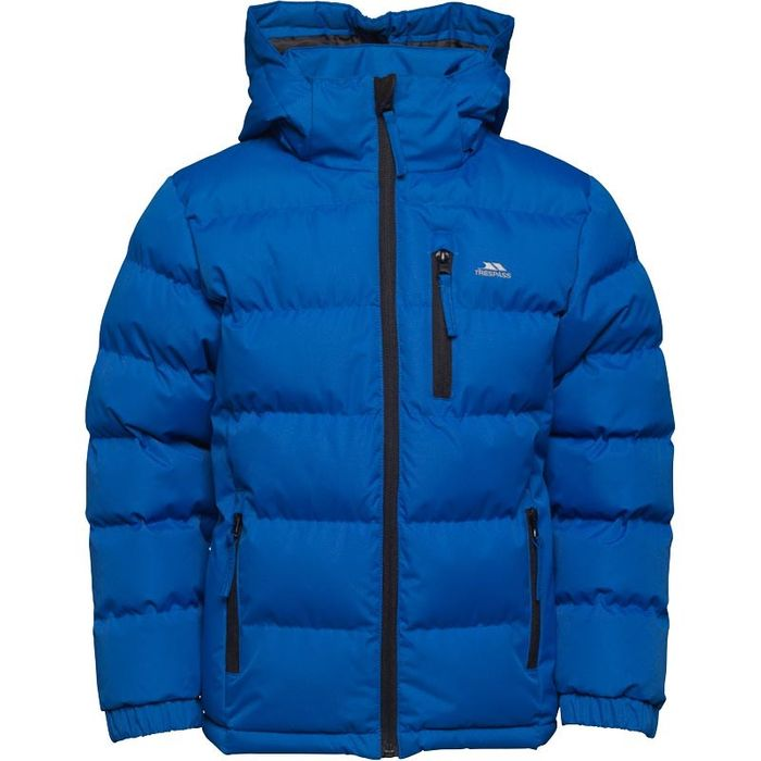 Trespass Boys Tuff Padded Hooded Jacket Blue