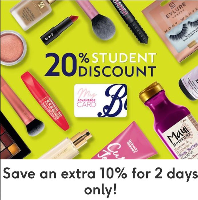 20% off Available in Store on Wednesday 5th & 6th February 2020 at Boots Stores