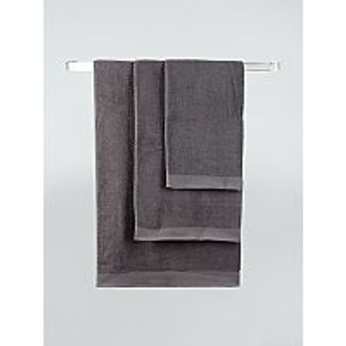 Charcoal Cotton Hand Towel, Only £1.50!