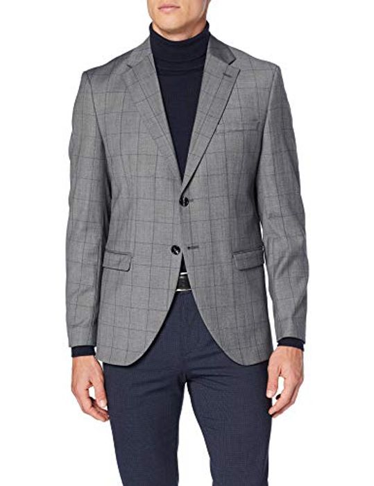 Men's Grey Check Suit Jacket