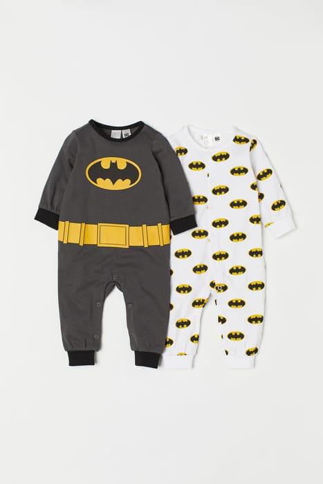 2-Pack All-in-One Pyjamas - Dark grey/Batman