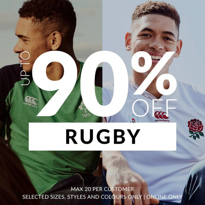 Special Offer - Up to 90% off Rugby Products