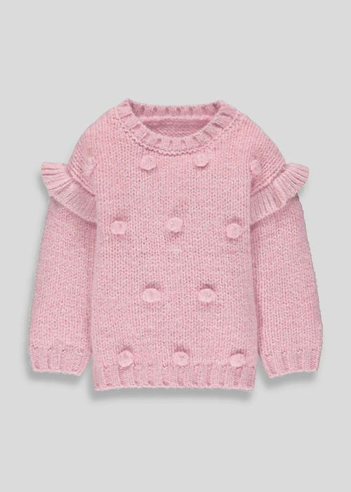 Girls Pom Pom Jumper (9mths-6yrs)