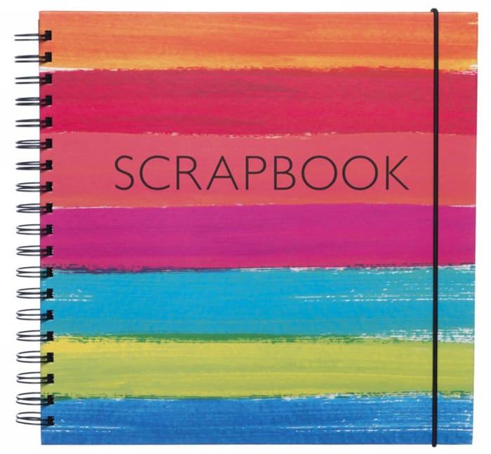 WHSmith Watercolour Stripe Scrapbook Album