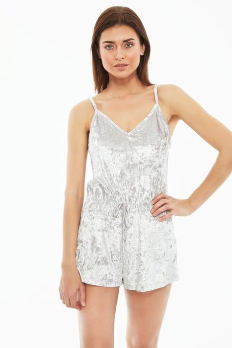 Grey Velvet Pyjama Set