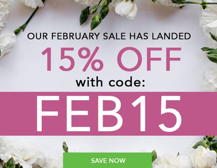 15% off Flowers