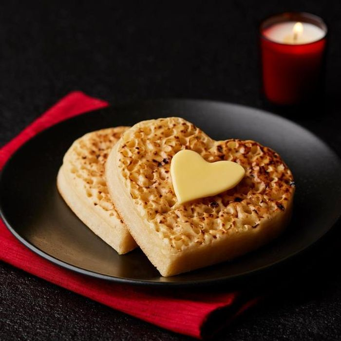 4 Love Heart Shaped Crumpets for Valentines Day £1