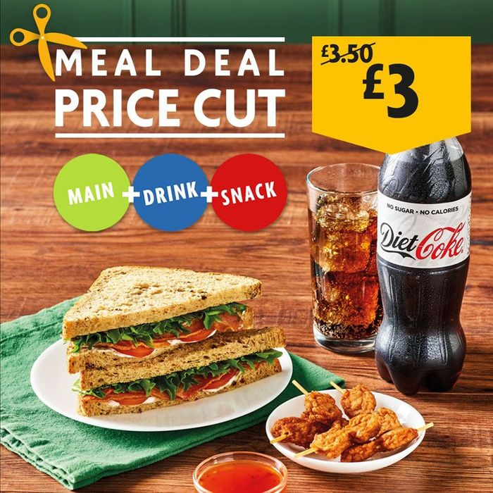 Morrisons Lunctime Meal Deal Now Only £3