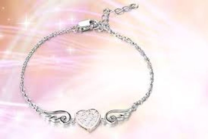 Cheap Sterling Silver Love Bracelet Anklet with Germanium, Only £3.49!