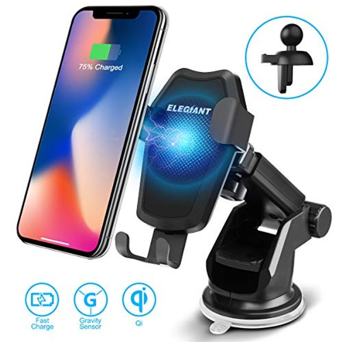 Price Drop! ELEGIANT Wireless Car Charger Mount for £5.99 Only