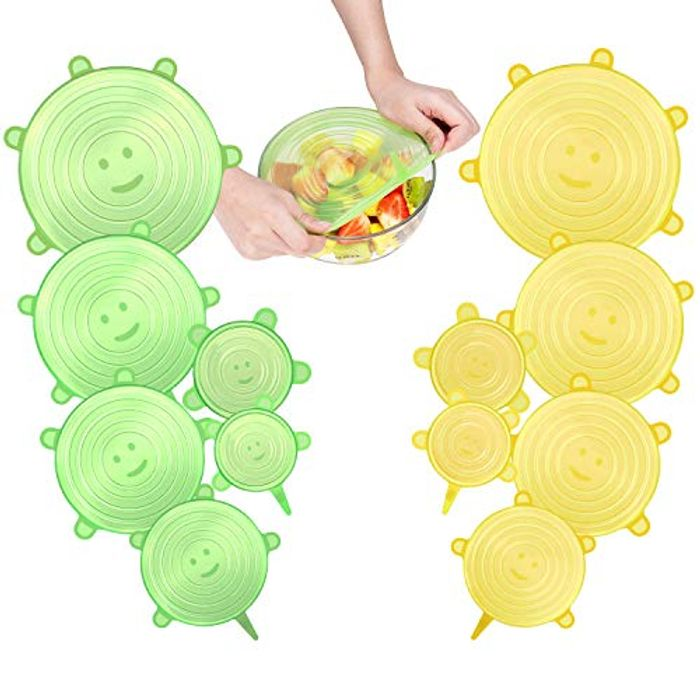 Pack of 12 Silicone Food Cover Lids