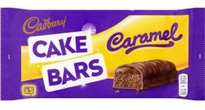 Cadbury Caramel Chocolate Cake Bars X5