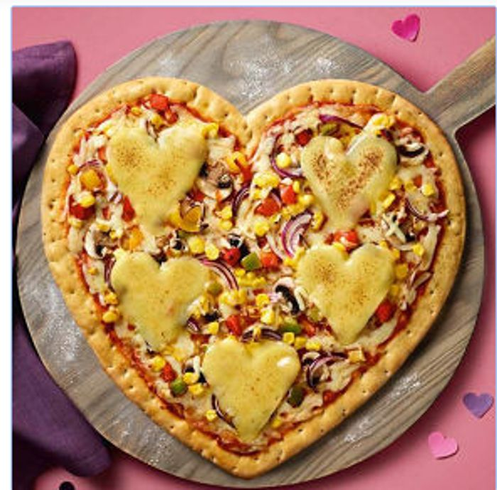 Love Heart Shaped Pizza for Valentines Day!