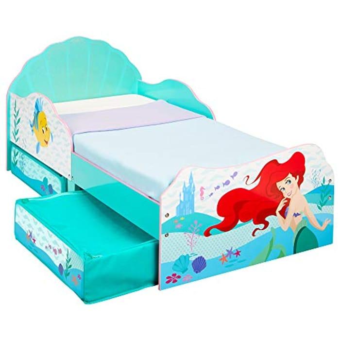 Best Price! Disney Princess Ariel Kids Toddler Bed with Storage 143cm