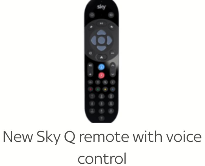 Free Sky Q Voice Activated Remote for SKY Q VIP Customers