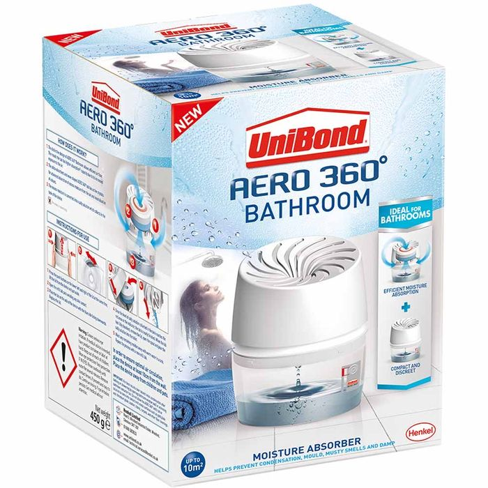 Unibond Aero 360 Bathroom Moisture Absorber 450g