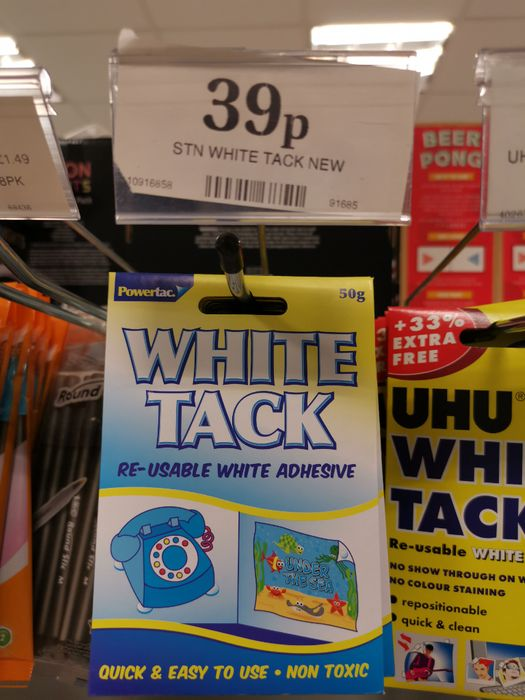 White Tack 39p Home Bargains