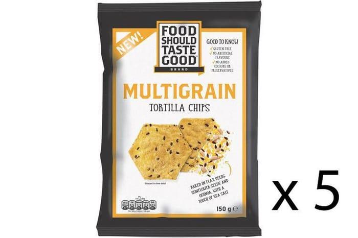 5 X Food Should Taste Good - Multigrain Tortilla Chips - 150g