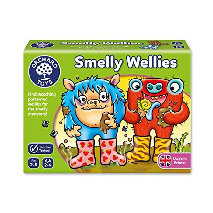 Orchard Toys Smelly Wellies Game at Amazon