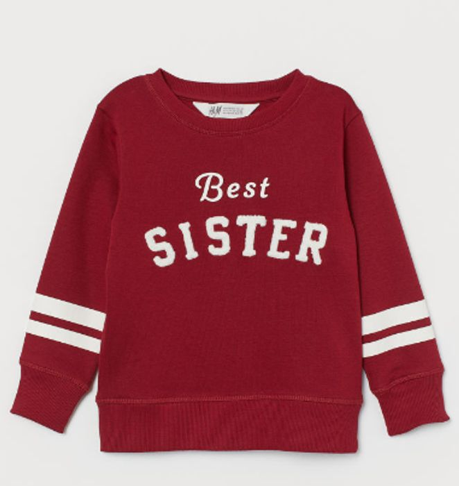 Sibling Top - Dark red/Best Sister