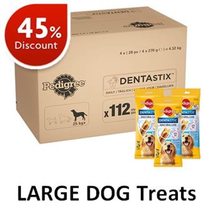 45% OFF! Pedigree Dentastix - LARGE DOG Treats (112 Sticks)