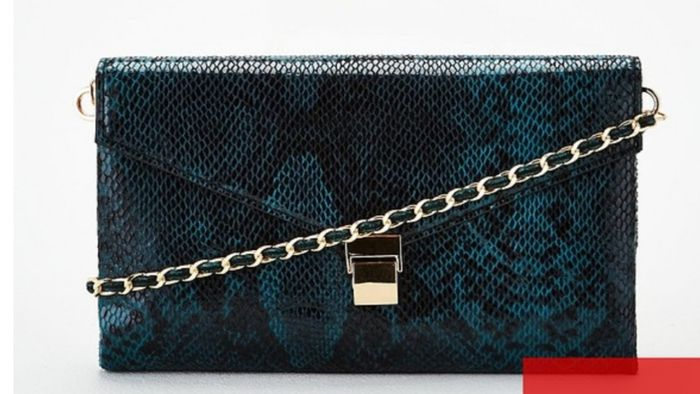 Chain Strap Clutch Bag - Green - Save £20