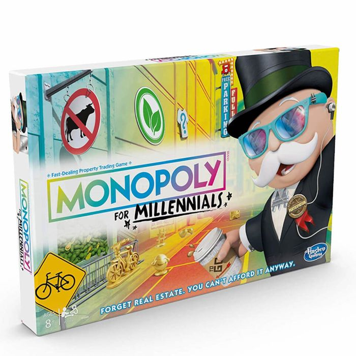 Cheap MONOPOLY - MILLENNIAL EDITION Only £9.99!