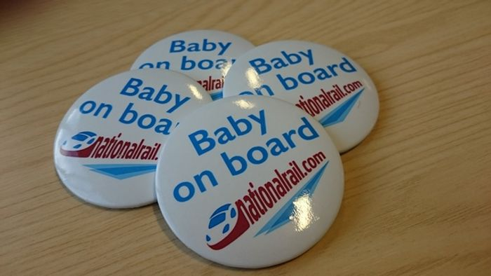 NationalRail.com Baby on Board Badges S.A.E REQUIRED
