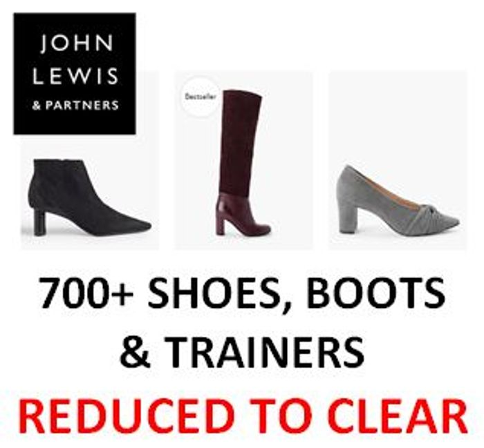Shoes, Boots, & Trainers REDUCED TO CLEAR at John Lewis - Up to 75% Discount