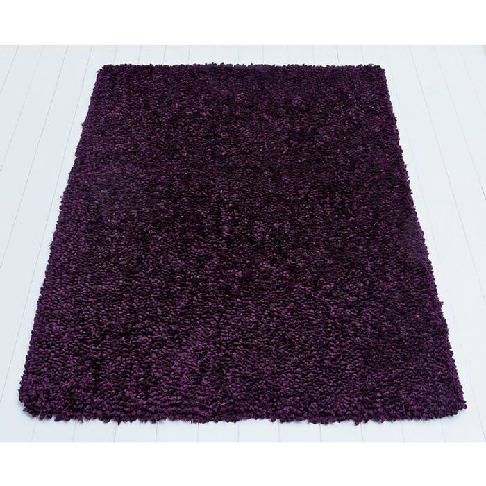 Cheap Argos Home Flump Shaggy Rug - 160x120cm - Plum, Only £16.66!