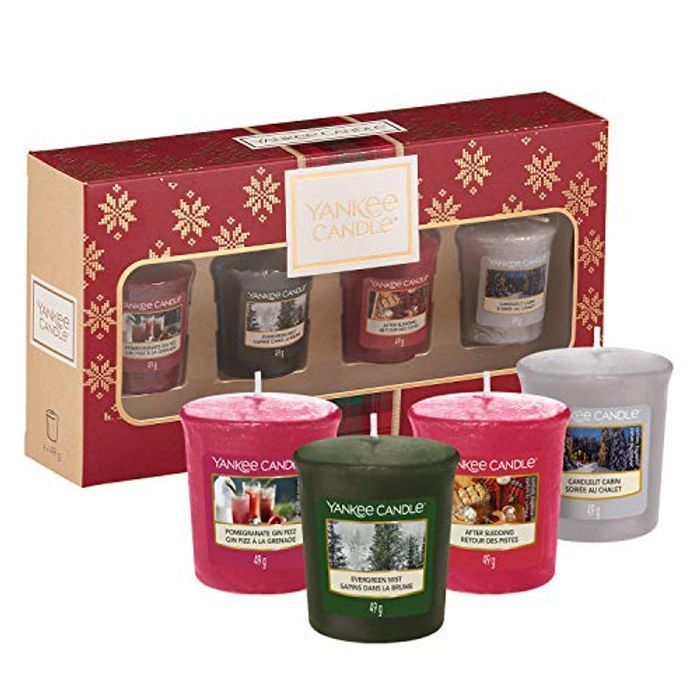 Best Price! Yankee Candle Gift Set with 4 Scented Votive Candles- Free Delivery!