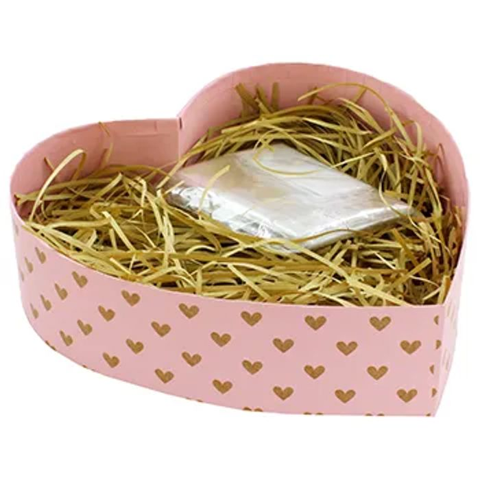 Fill Your Own Large Pink Heart Shaped Cardboard Gift Hamper