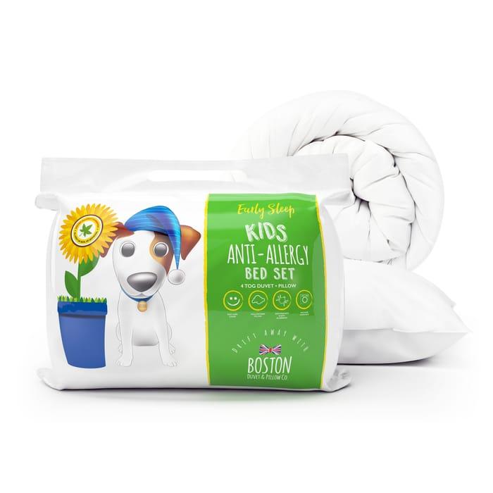 Cheap Boston Duvet & Pillow CO Anti Allergy Safer Sleep Bed Set Only £5.5
