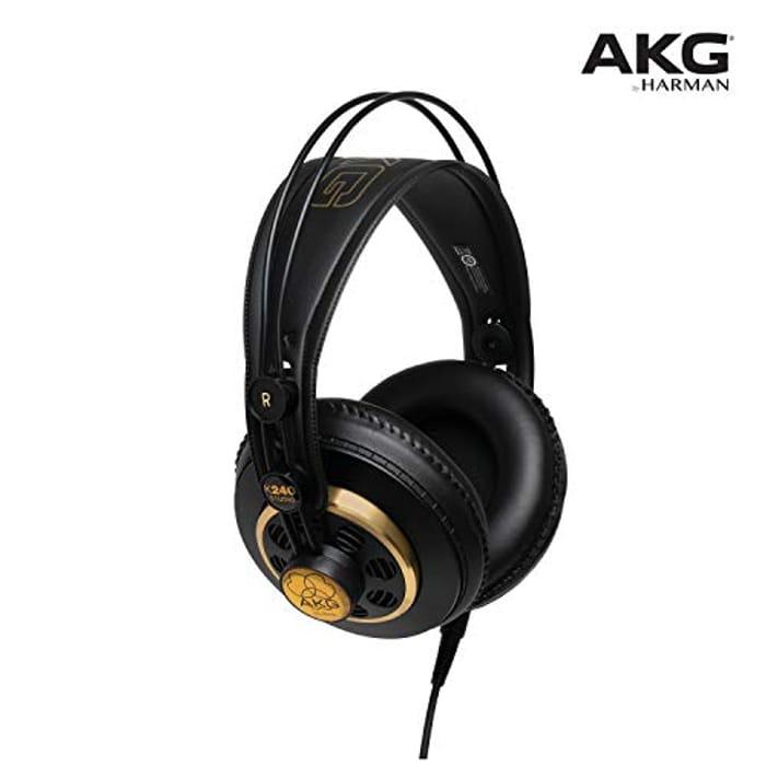Cheap AKG K240 STUDIO Professional Semi-Open, Over-Ear Headphones at Amazon