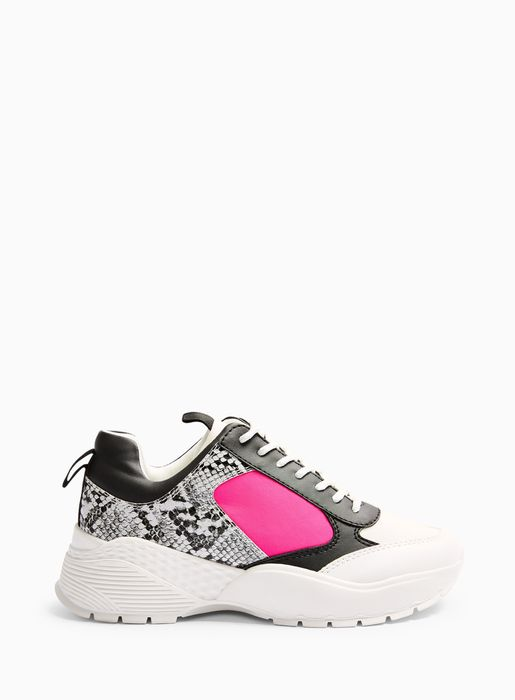 Pink TALLULAH Neon Chunky Trainer