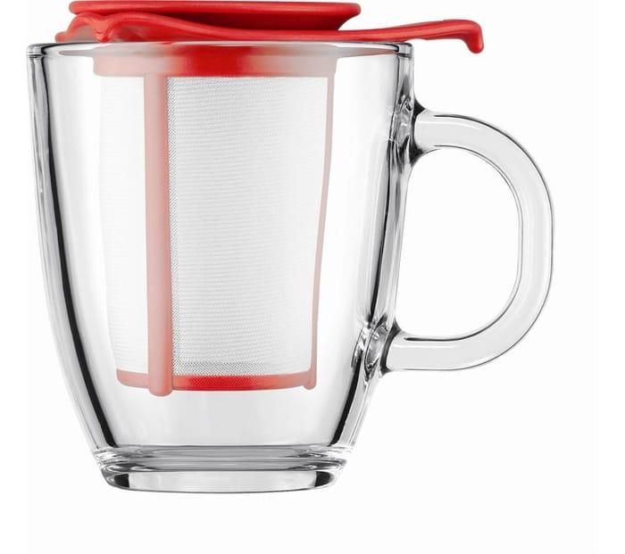 Great Value BODUM Yo Yo Mug & Tea Strainer Set - Red FREE C&C