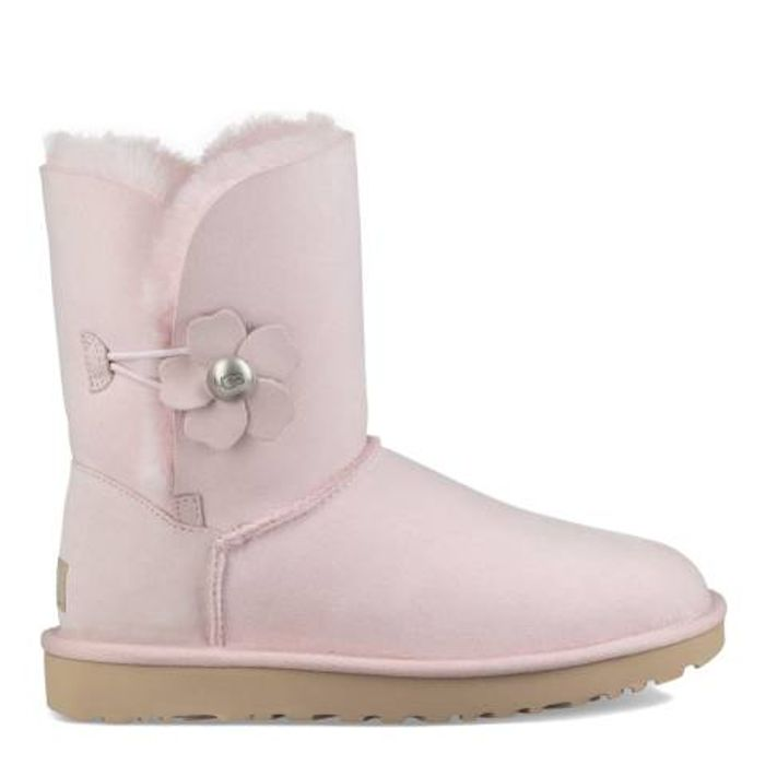 UGG Seashell Pink Classic Bailey Button Poppy Boots Only £69