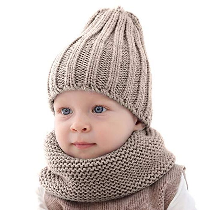 Baby Toddler Warm Knitted Hat Scarf Set - Half Price with Discount Code