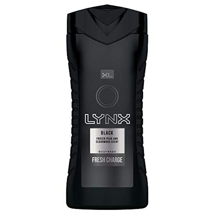 Lynx Black Fresh Charge Bodywash 400ml x 3 £3.60 After Voucher