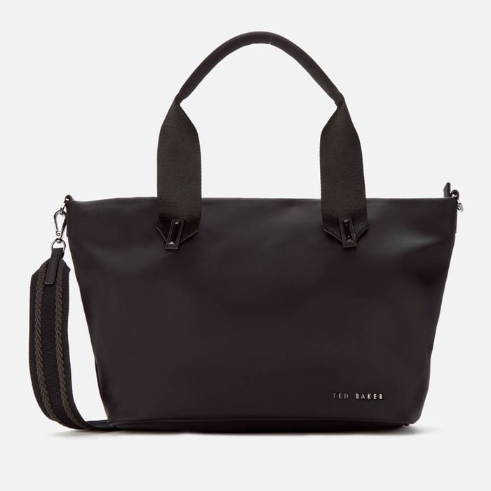 Cheap Ted Baker Women's Macieyy Plain Small Nylon Tote Bag - Black, Only £56!