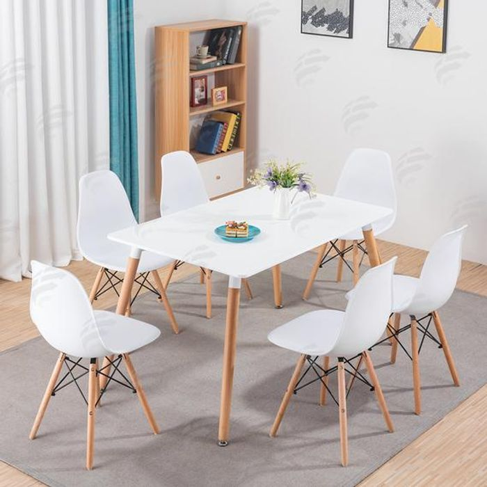Modern Eiffel Retro Designed Dining Office Lounge Chairs with Dining Table