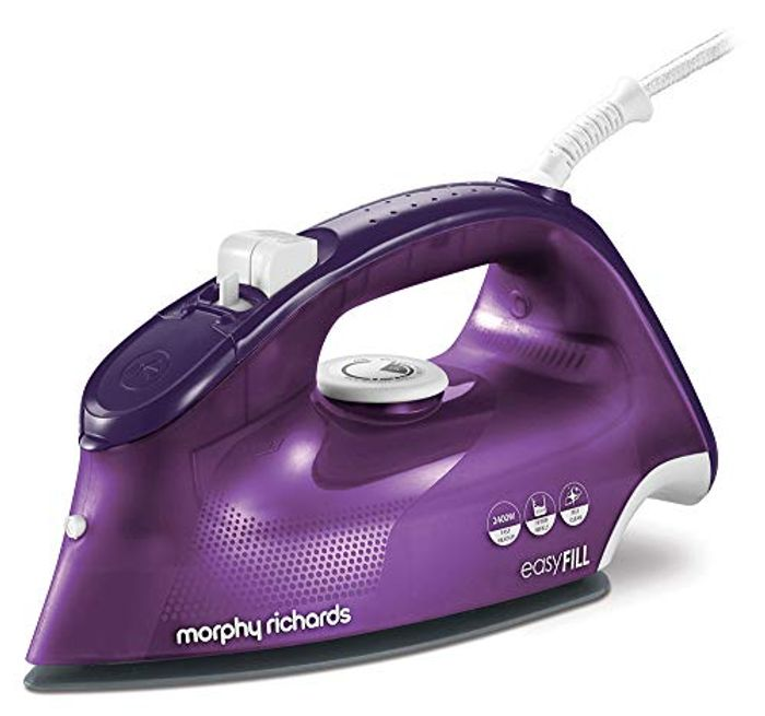 Cheap Morphy Richards Easy Fill Steam Iron, 2400 W, Purple - Save £30!