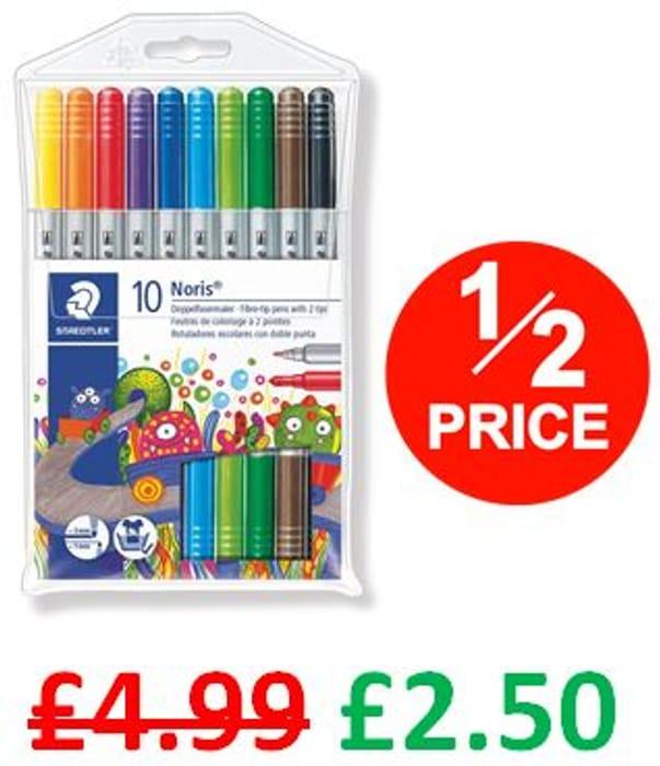 Staedtler Noris Double Ended Fibre Tip Pens (Pack of 10)