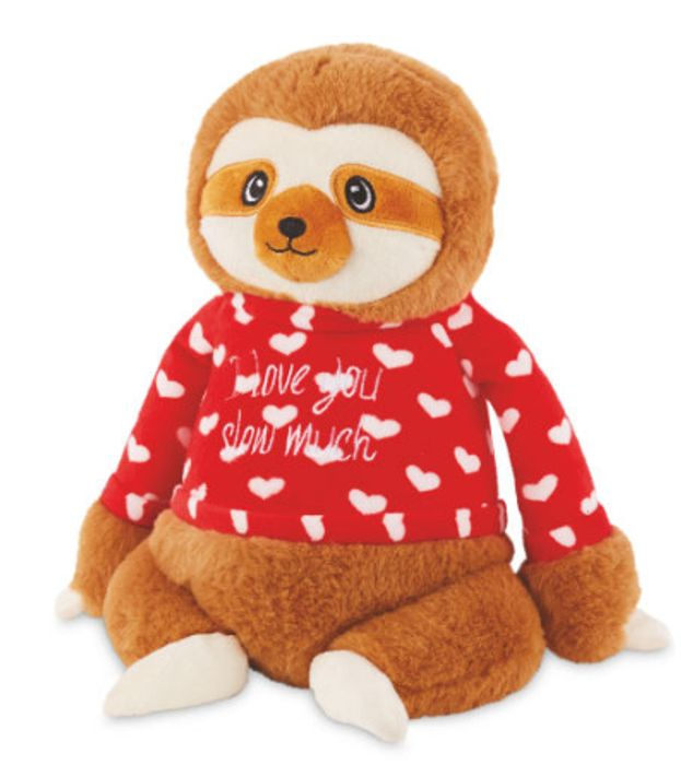 Valentine's Sloth Soft Toy