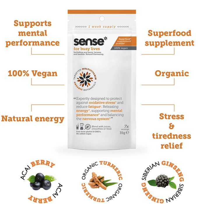 Free Sense Vegan Superfood Supplement Sample.